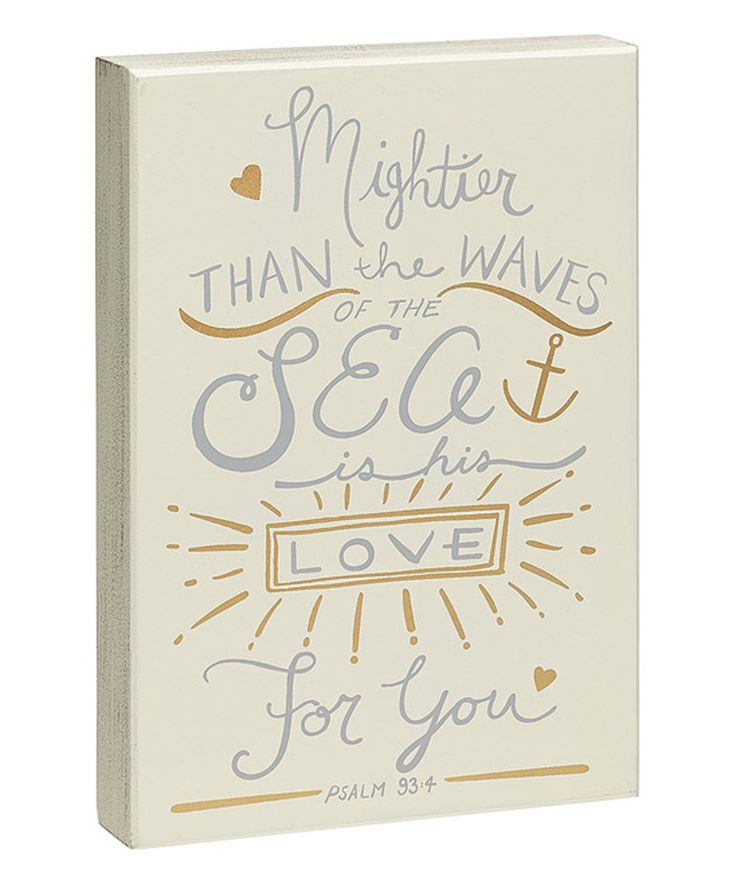 This 'His Love For You' Box Sign by Collins is perfect! #zulilyfinds