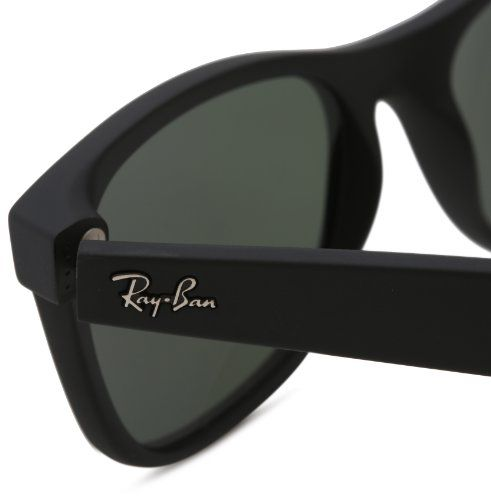ray ban new wayfarer rb2132 sunglasses  ray ban rb2132 new wayfarer sunglasses, black rubber frame/green lens, 55
