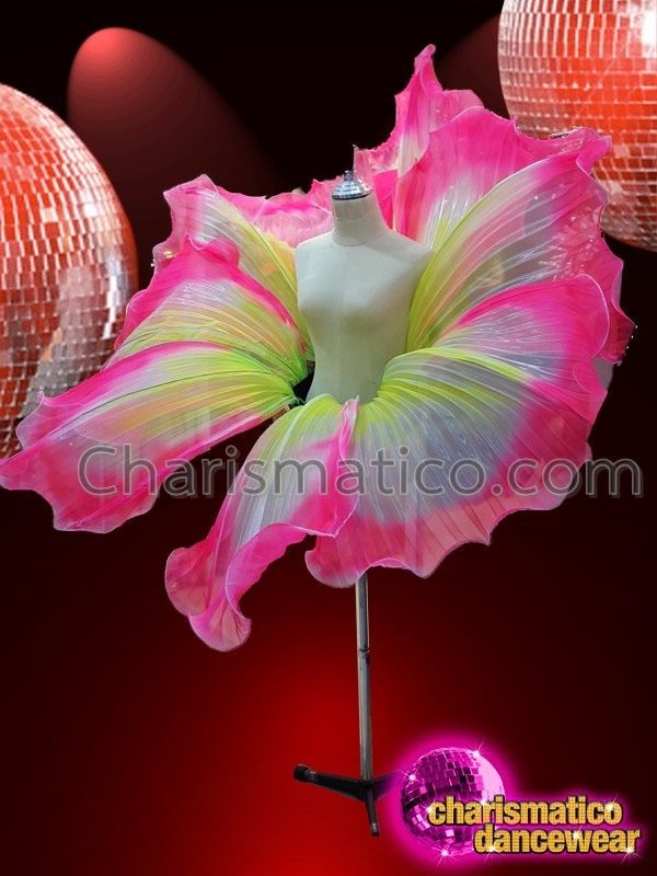 CHARISMATICO colourful huge floral petal patterned drag queen waist belt