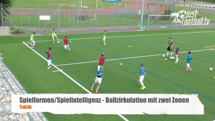 Ballzirkulation mit zwei Zonen - Spielform - Taktik