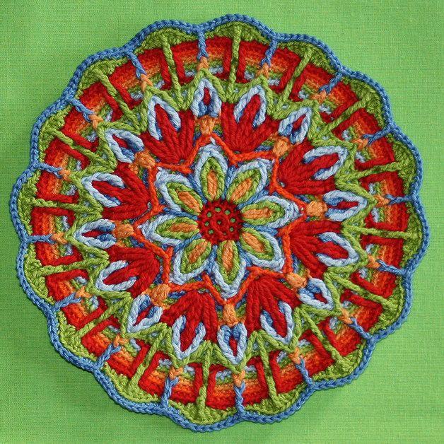 Mandalas tejidos al crochet patrones - Imagui