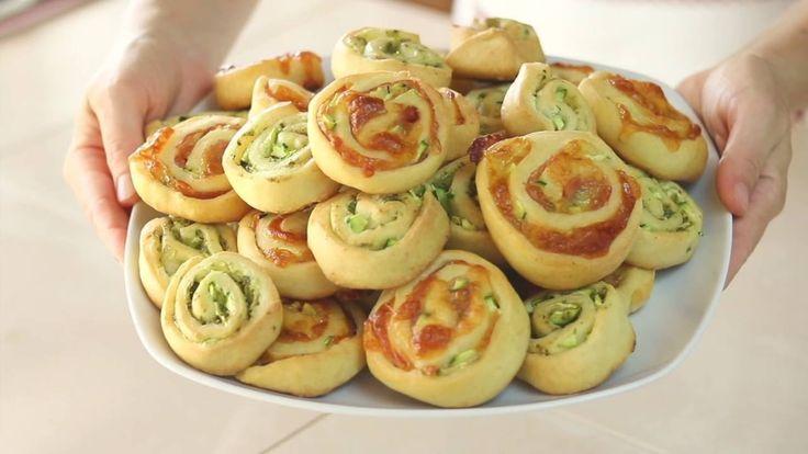 GIRELLE ALLE ZUCCHINE Ricetta Facile Senza Burro e Senza Uova - Zucchini...