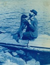 Dog on the dock | Amateur, 1890 to 1900