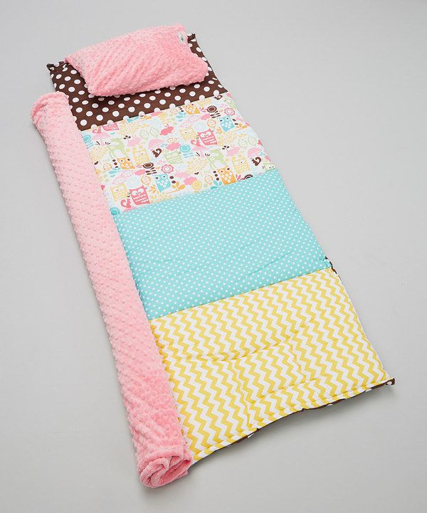 Another great find on #zulily! Janiebee Brown & Pink Meadow Quilted Nap Mat by Janiebee #zulilyfinds