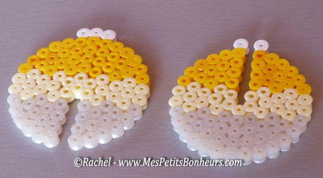 DIY 3D Christmas mobile hama beads by Mes Petits Bonheurs
