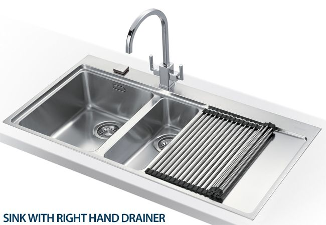 2. Flush Mount sink with side drainer