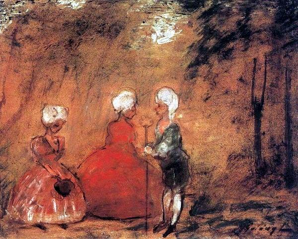 Gulácsy Lajos: ROKOKÓ  1904 körül  olaj, vászon (magántulajdon)