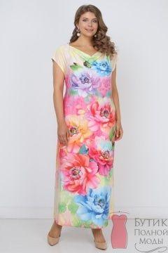 Платье Мелания Розово-голубой