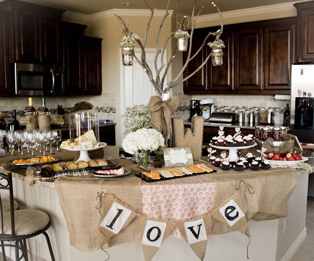 Country Chic Wedding Shower Decor Showers Rustic Bridal Decorations