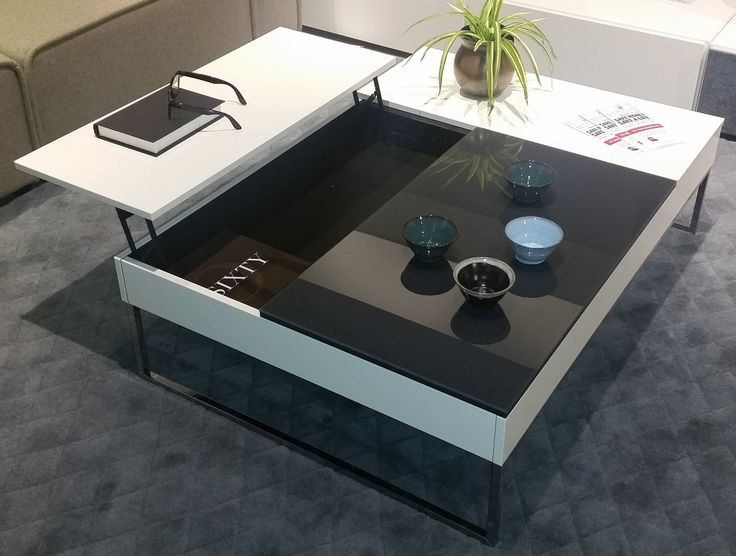 Chiva Functional Coffee Table With Storage In White