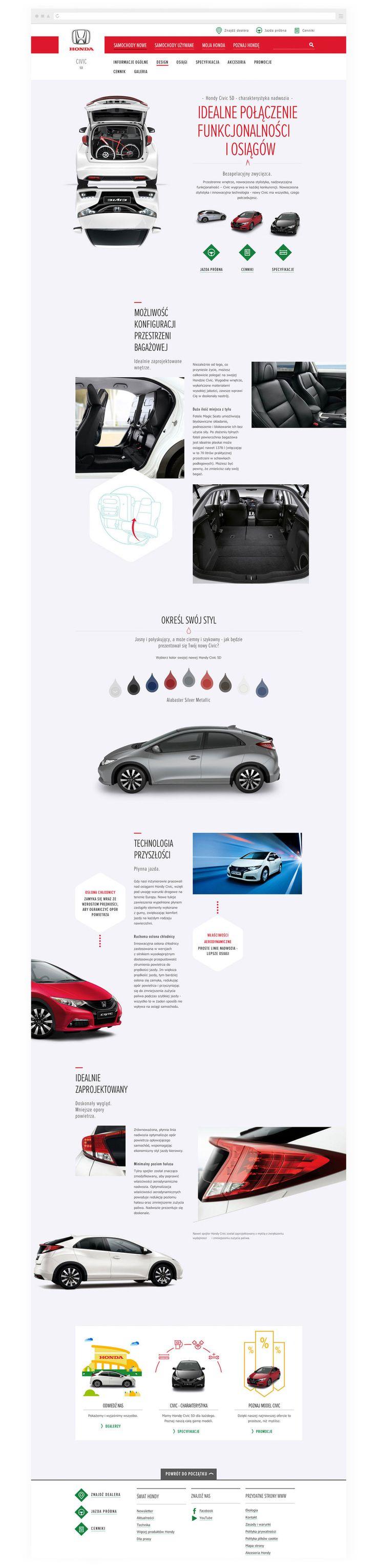 Honda - Digital Website Design - Paul David Price