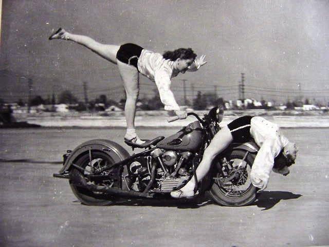Women Motorcycle Stunters