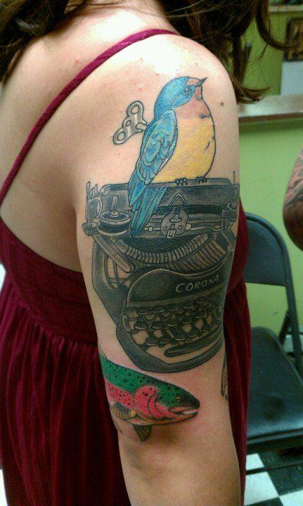 The Word Made Flesh..I just love literary tattoos