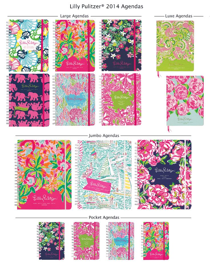 I need a lily pulitzer agenda for college!