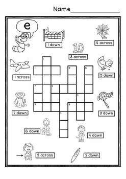 Cvc Simple Crossword Puzzles Crossword Puzzles