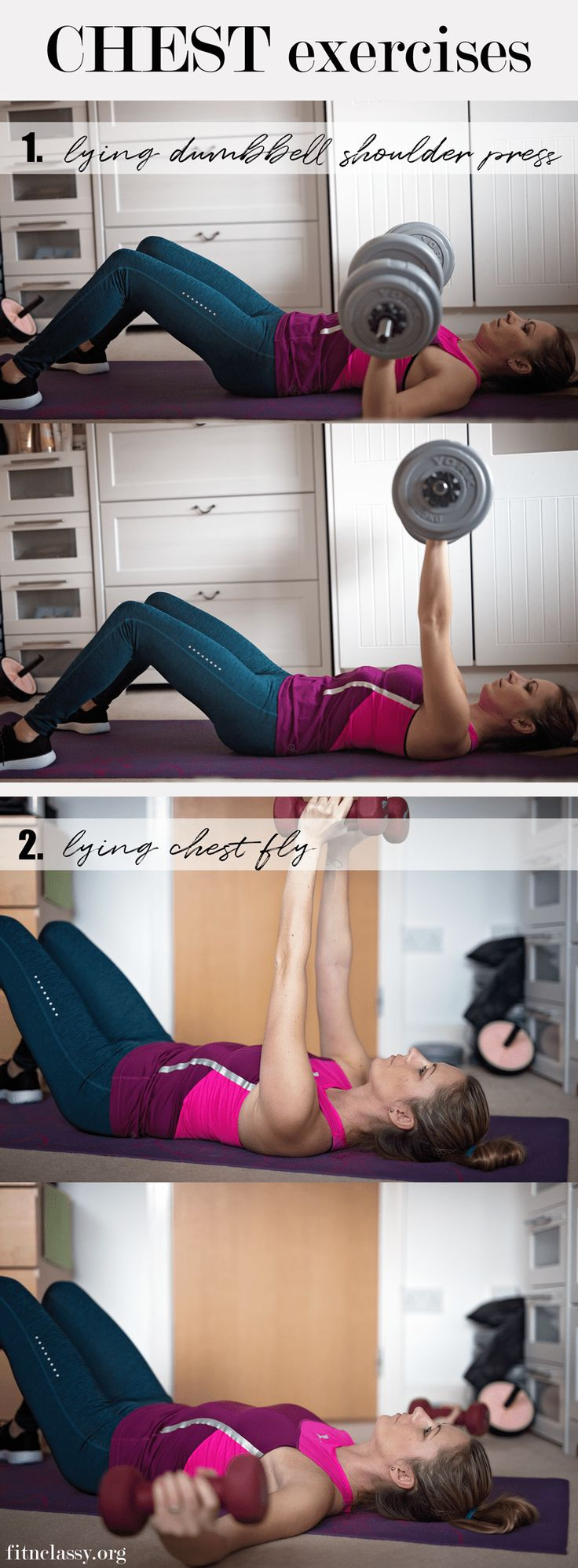 Full Upper-Body Workout with weights to target your arms, back, chest, triceps and biceps. Home workout inspiration. #fitness #workout