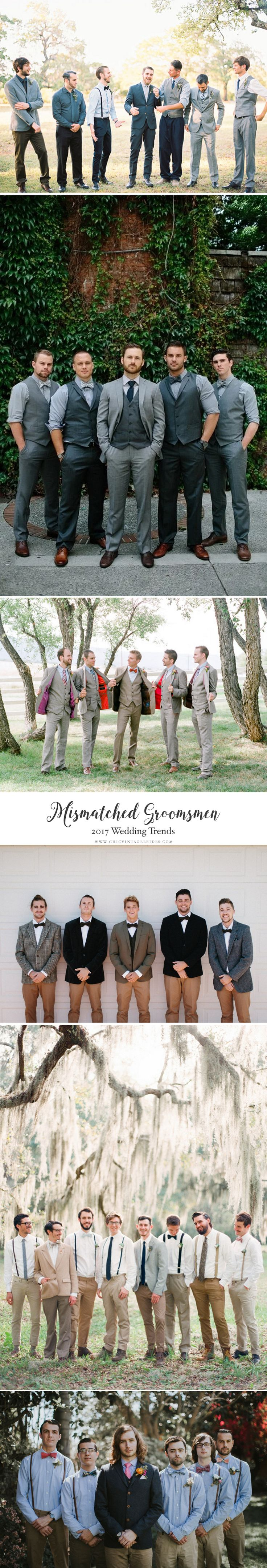 Top Wedding Trends 2017 - Mismatched Groomsmen