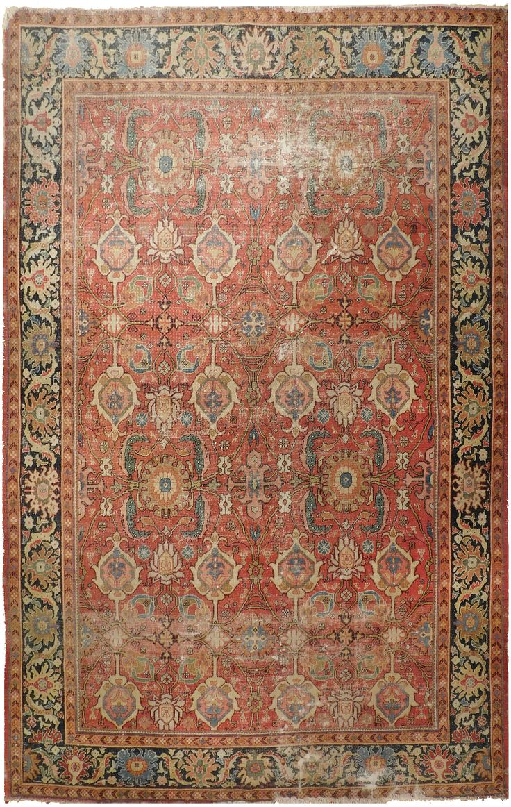 Rug #564 - Antique Distressed Persian Ziegler Sultanabad rug. by NasserLuxuryRugs on Etsy