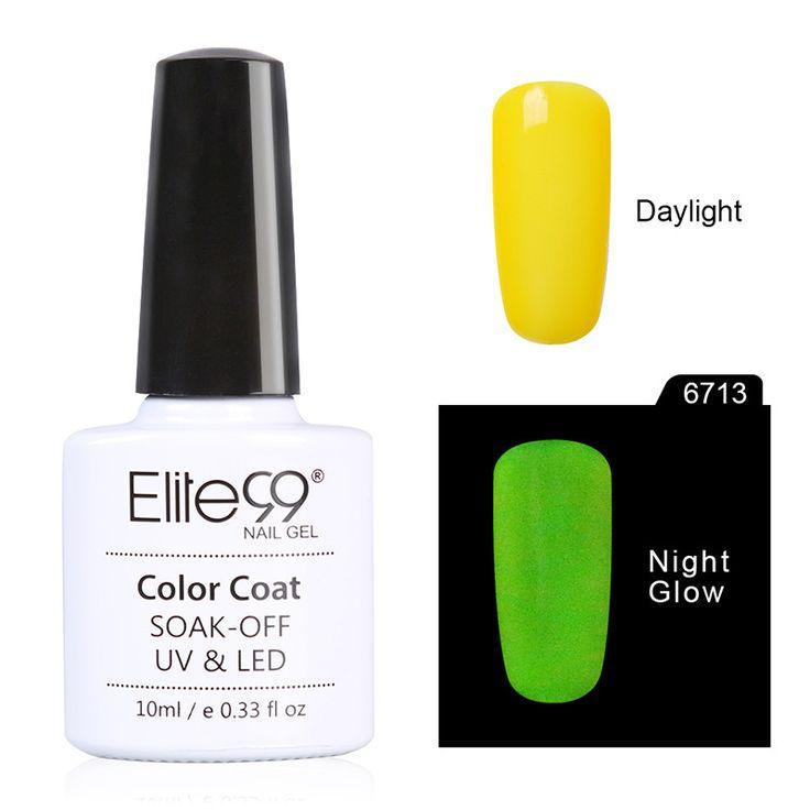 Elite99 10ML Candy Colors Nail Polish Glow in the Dark Nail Polish Fluorescent Nail Art Polish Enamel for Nail Art Design