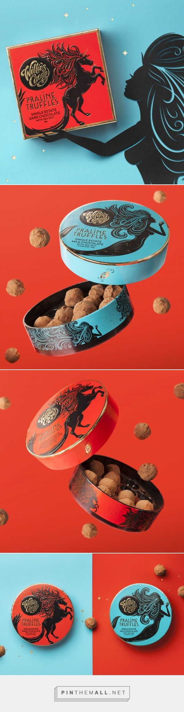 Willie's Cacao Truffles - Packaging of the World - Creative Package Design Gallery - http://www.packagingoftheworld.com/2018/01/willies-cacao-truffles.html