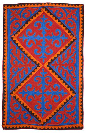 unique shyrdak felt rugs from Kyrgyzstan at Feltrugs.co.uk
