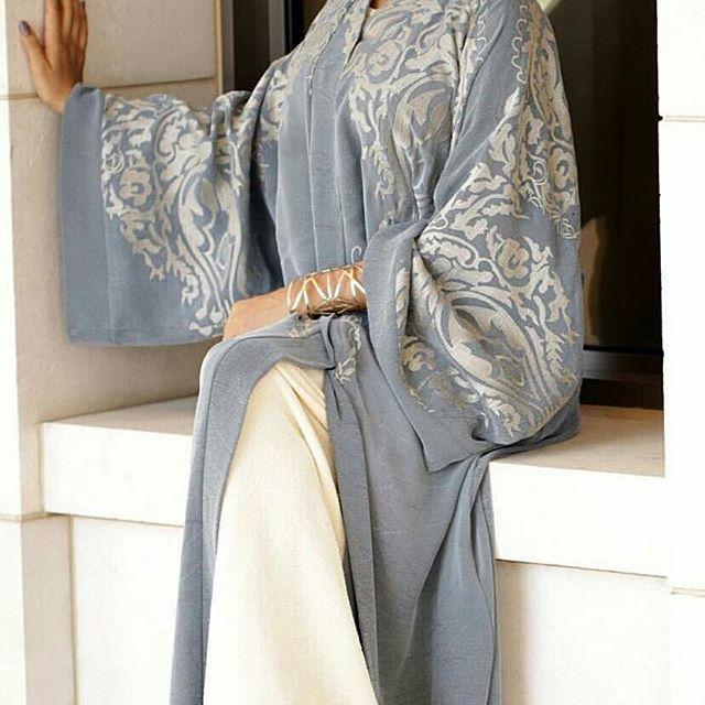 Beautifully subtle daytime abaya.