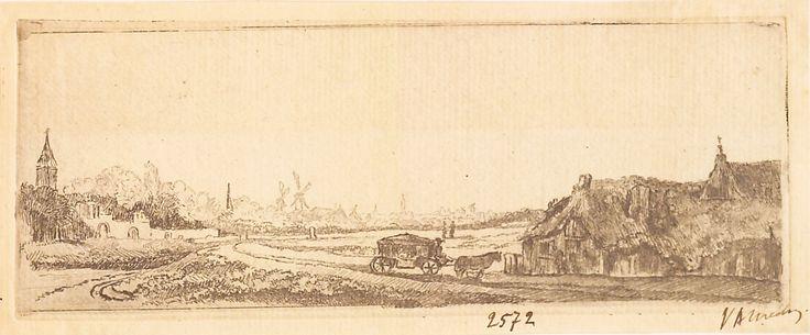 """eisaj cu trăsură închisă pe drum, 1789-1797 (după Rembrandt). Imagine din colecțiile Bibliotecii """"V.A. Urechia"""" Galați."""