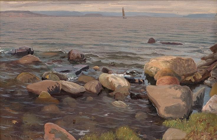 Nils Hansteen (1855-1912): Fra Larkollen, gråvær