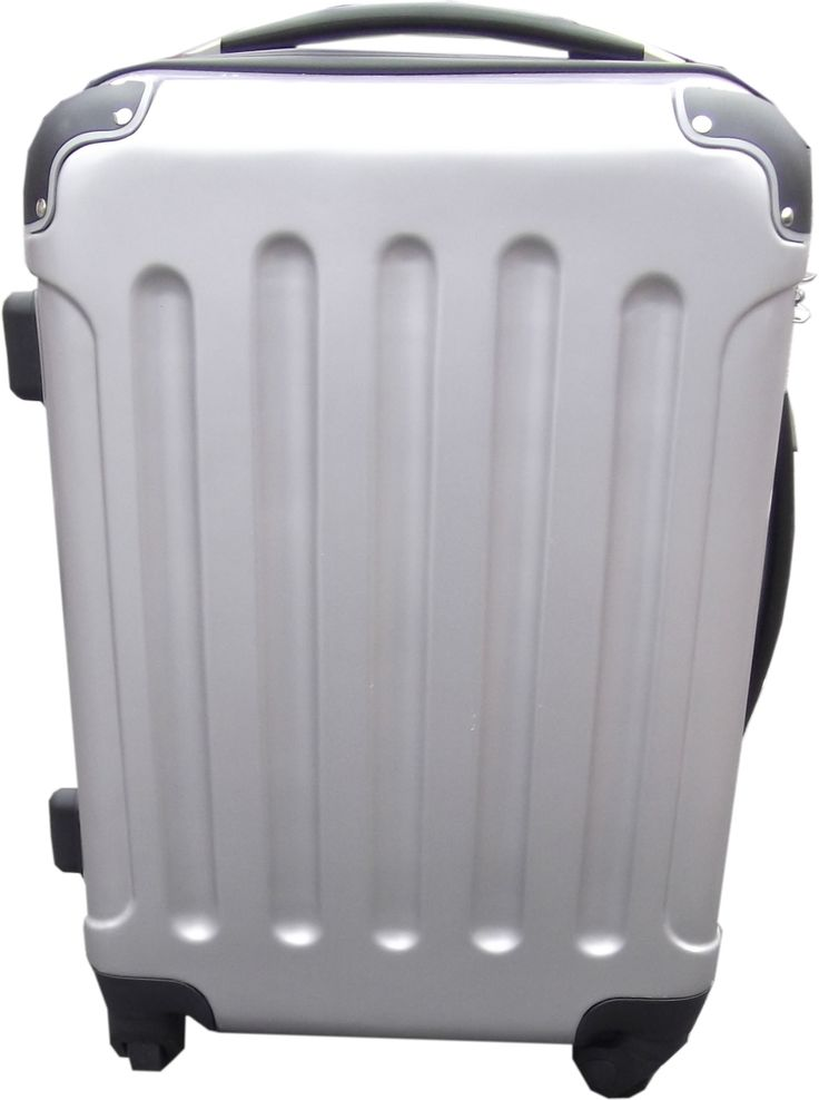 Small Silver Featherlight Hard Plastic Suitcase | Maleta | Pinterest