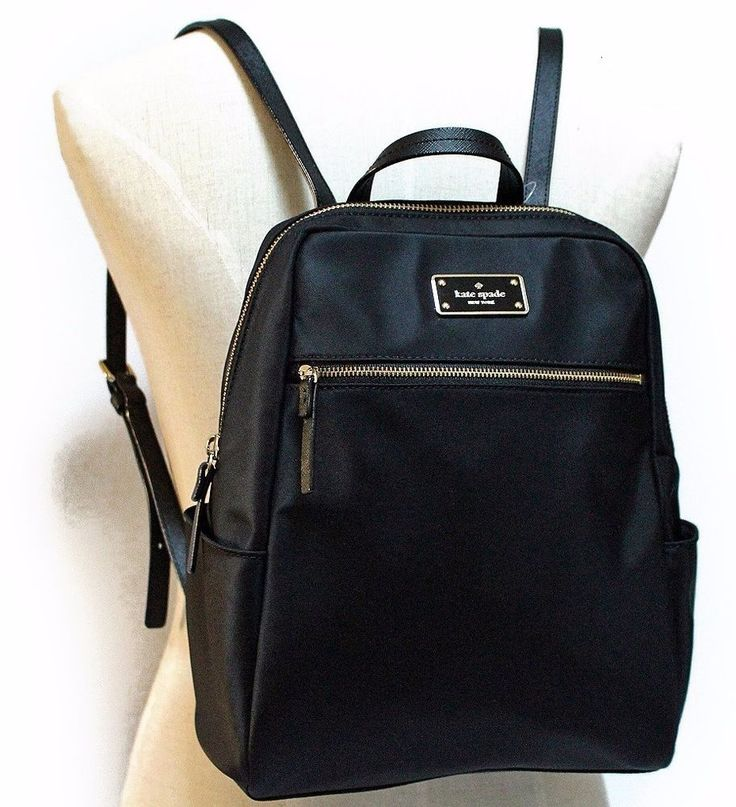 KATE SPADE Blake Avenue HILO Backpack Book Travel Bag ~ Black Nylon ~ NWT $248 #katespade #BackpackStyle