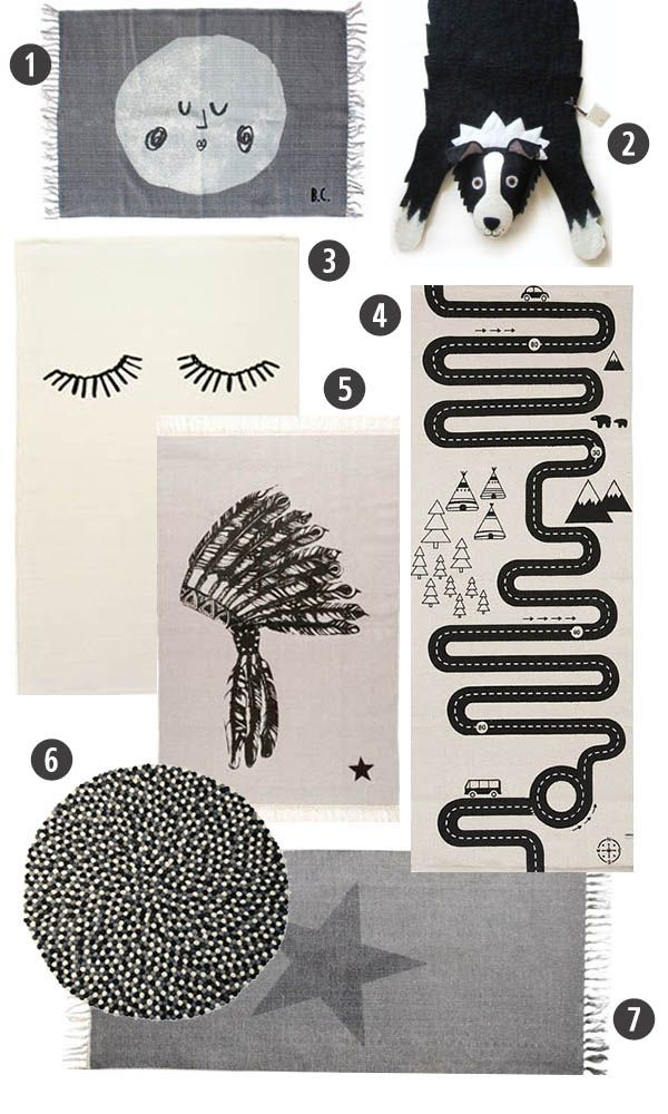 Best Children's Rugs For A Black And White Room | The Junior