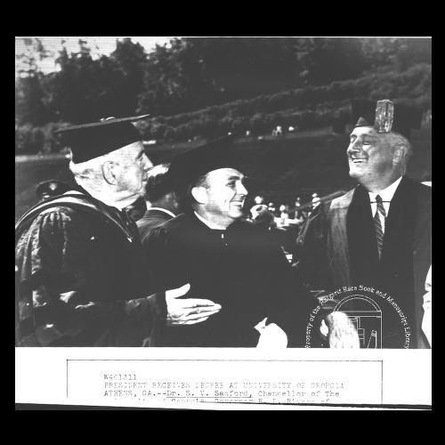 University of Georgia,  Roosevelt (Franklin Delano) at the University. 1938 Negative # 1537