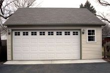Garage and galleries on pinterest for Reverse gable garage