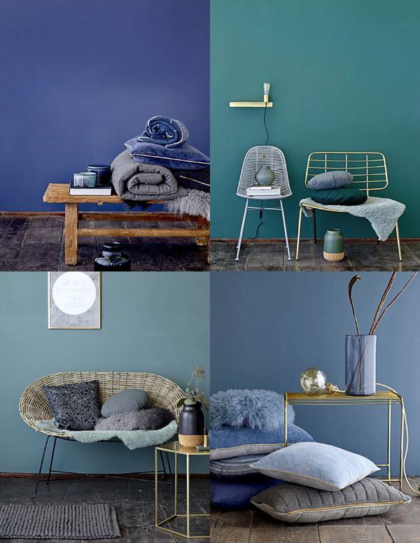 Texture, mixed materials and a moody colour palette with dusky pinks trend for Autumn/Winter 2015.