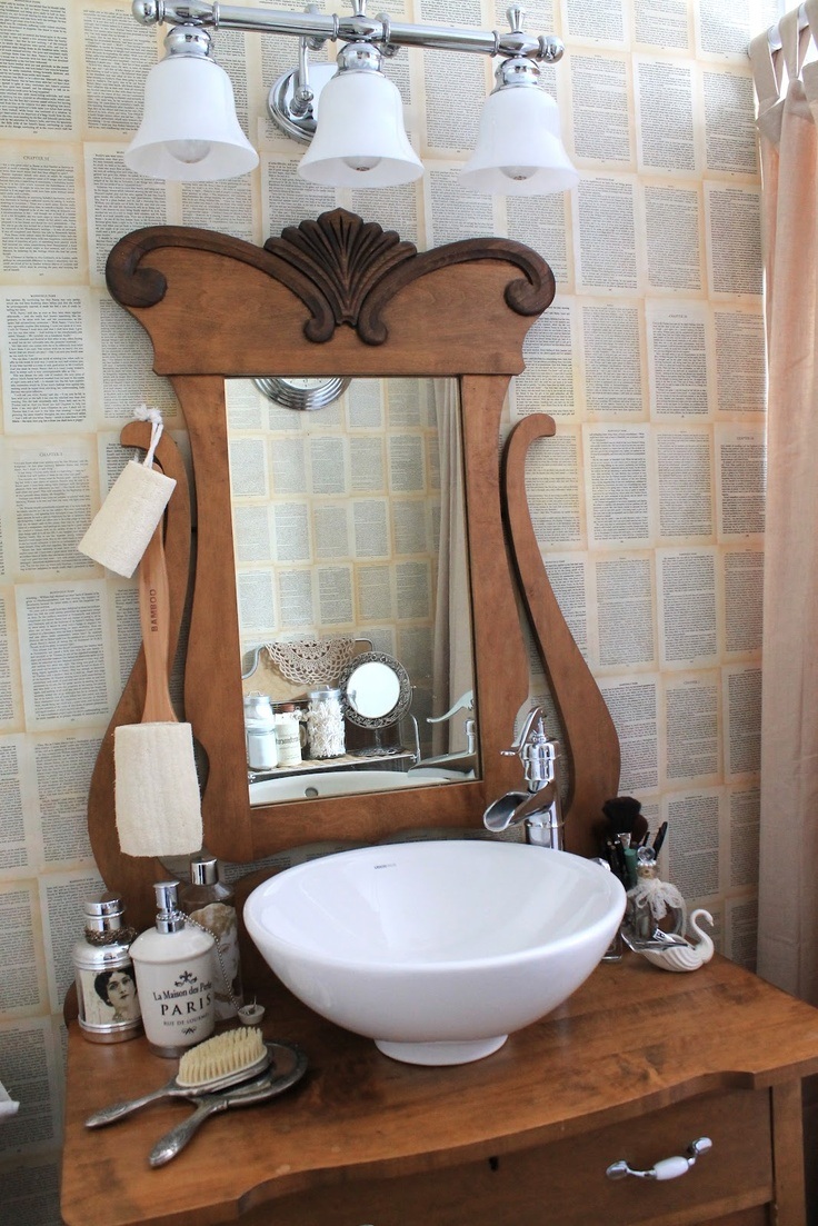 jane austen bathroom makeover vintage bathroom - Vintage Bathroom Vanity