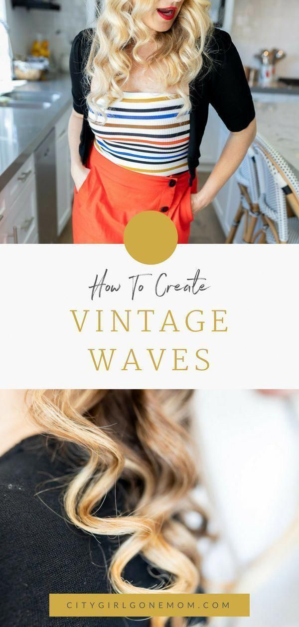 Easy Stylish Pin-Up Hairstyle. How to Create an easy vintage pin-up wavy hair style. This tutorial is great for long hair and will work for short