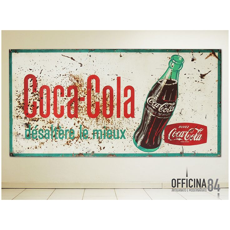 Insegna Coca-Cola anni '60 in lingua francese #officina84 #milano #via padova #via padova84 #varioggetti #arredamento #design #sideboard #middlecentury #forniture #modernariato #forsale #living #home #sedie #vintage #art #lamps #livingroom #casa #visual #visualmerchandising #table #nolo #poltrone #industrialchic #mirrow #allestimenti #vetrine #luxury #architects #chairs