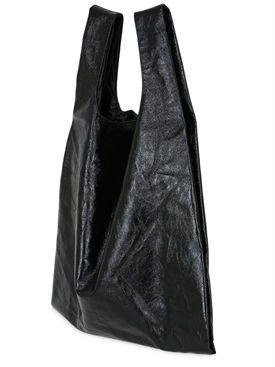 mm6 di maison margiela - женщины - большие сумки - сумка из искусственной кожи с эффектом металлик