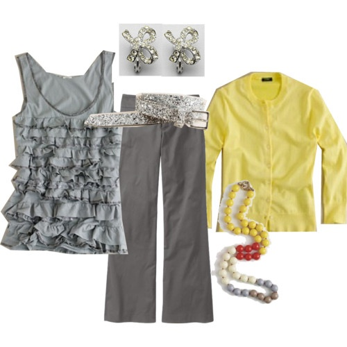 grey & yellow: Color