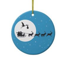 Pregnancy Christmas Ornament - Coming to Town