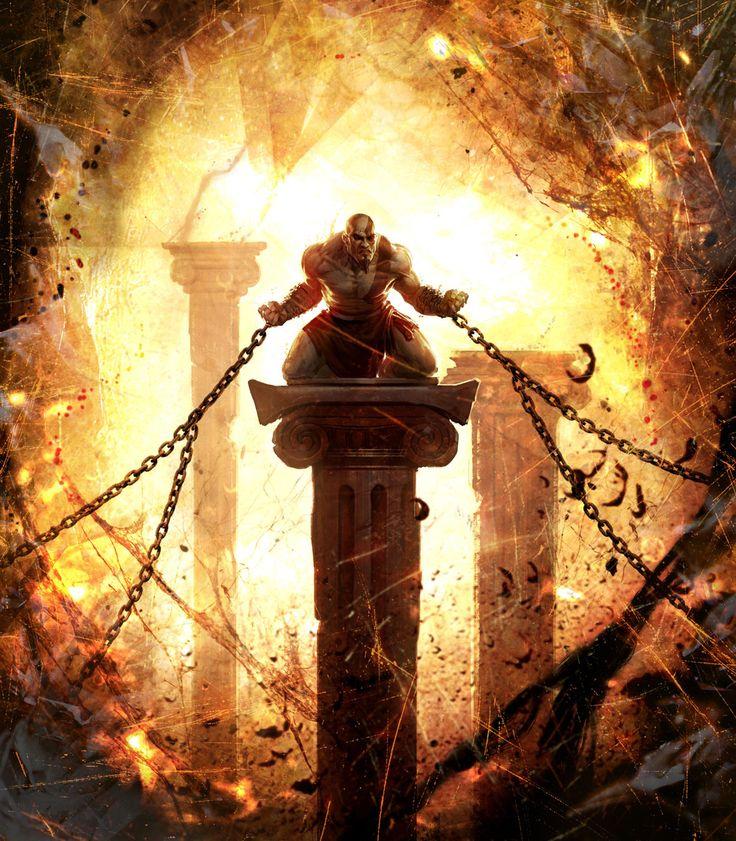 concept art and illustrations for God of War: Ascension