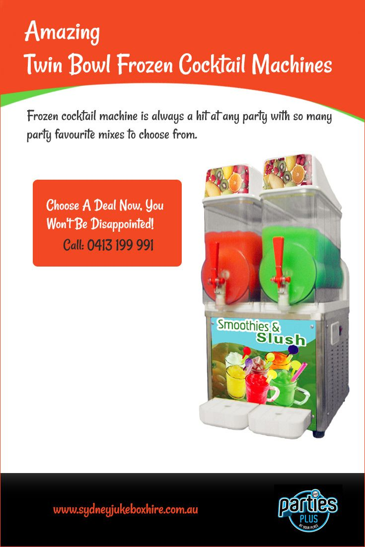 #Frozen_cocktail_machine is always a hit at any party with so many #party_favourite_mixes to choose from.