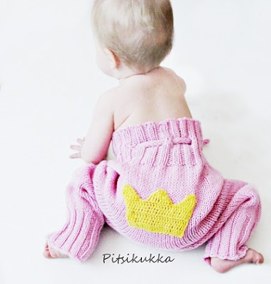Knitted pants for my little princess