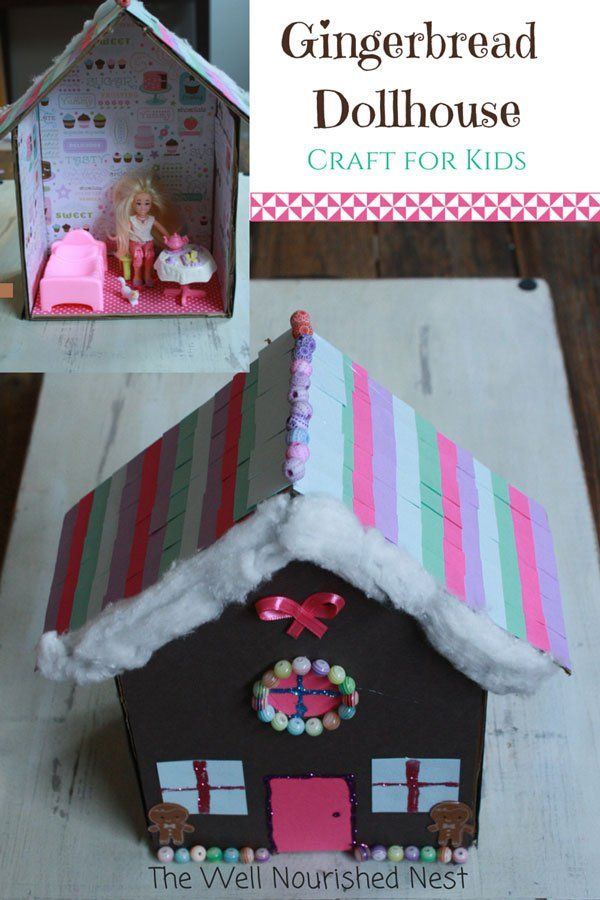 Christmas crafts for kids- Gingerbread Dollhouse