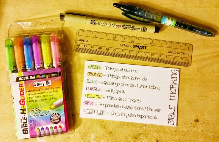 My Bible Study Tools, Highlighting System and Notebook ~ ..Inside Bambi's Head..