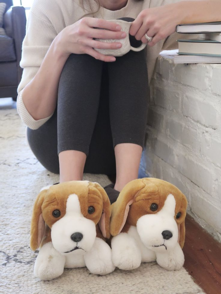 Beagle Slippers Kids Slippers Fluffy Animals Bunny Slippers