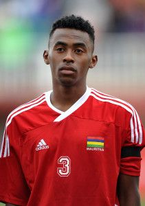 Jean Fabrice Augustin of Mauritius during the Cosafa u20 Youth Championship Group A game between Mauritius and Lesotho at Setsoto Stadium, Maseru in Lesotho on 9 December 2013 ©Ryan Wilkisky/BackpagePix