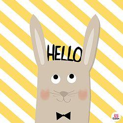 Affiche Hello lapin