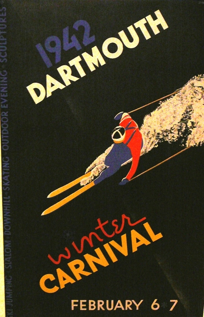 Pullman Gallery: Dartmouth Vintage Poster, £5,400  http://www.quintessentiallygifts.com/Pullman-Gallery-Dartmouth-Winter-Carnival-1942-783/
