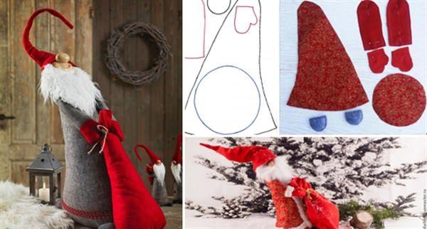 Πως να φτιάξετε έναν χαριτωμένο Άγιο Βασίλη που τραβάει το σακί του! Οδηγίες + Σχέδιο!